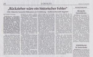 Hallertauer Zeitung vom 18.05.2016