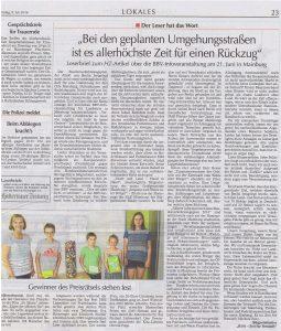 Hallertauer Zeitung vom 09.07.2016