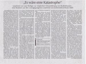 Hallertauer Zeitung vom 05.05.2016 von Lutz Rüdiger, Furthmühle