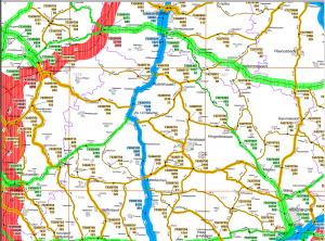 Verkehrsmengenkarte Umgebung Au Rudelzhausen