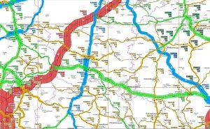Verkehrsmengenkarte Umgebung Mainburg