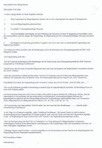 Auszug des Schreibens der Kommunalaufsicht