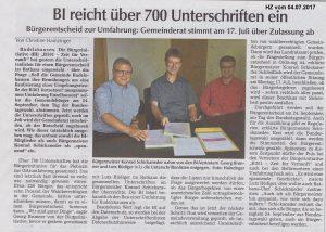 Hallertauer Zeitung vom 04.07.2017