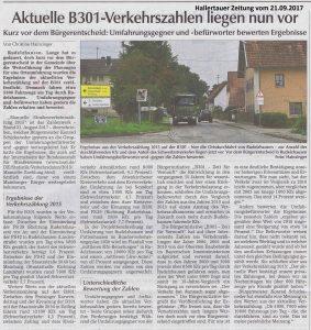 Hallertauer Zeitung vom 21.09.2017