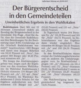 Hallertauer Zeitung vom 26.09.2017